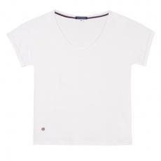 La Martha Ecru - T-shirt écru à col v