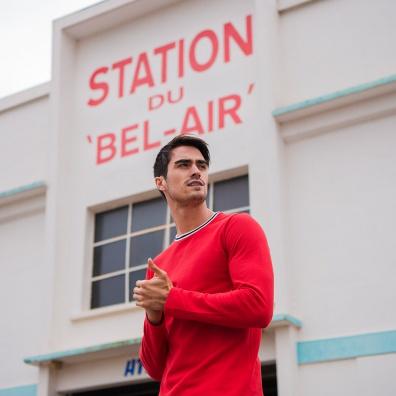 Le Paul - T-shirt manches longues rouge