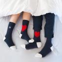 Les Lucas Duo Mixte Coeur - Pack de deux paires de chaussettes Gros coeur (2 tailles différentes)
