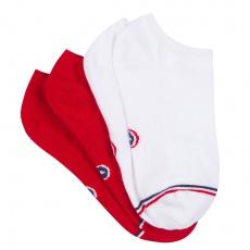 Les Jo Duo Rouge et Blanc - Chaussettes mixtes basses