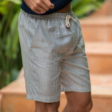 Le Raymond Rayé - Bermuda rayé bleu