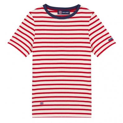Le jean lou RAYE ROUGE/BLANC - Tshirt RAYE ROUGE/BLANC