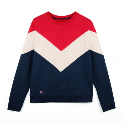 Le Jean Claude - Sweat-shirt tricolore ESF