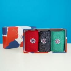 Les lucie trio - coffret Chaussettes emeraude marine rouge