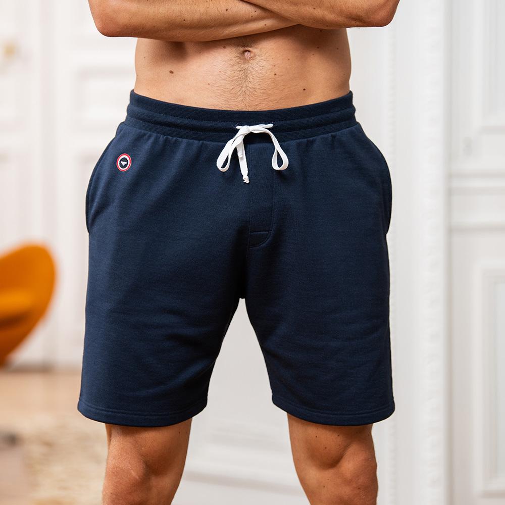 Le Henri navy - Short molleton bleu marine