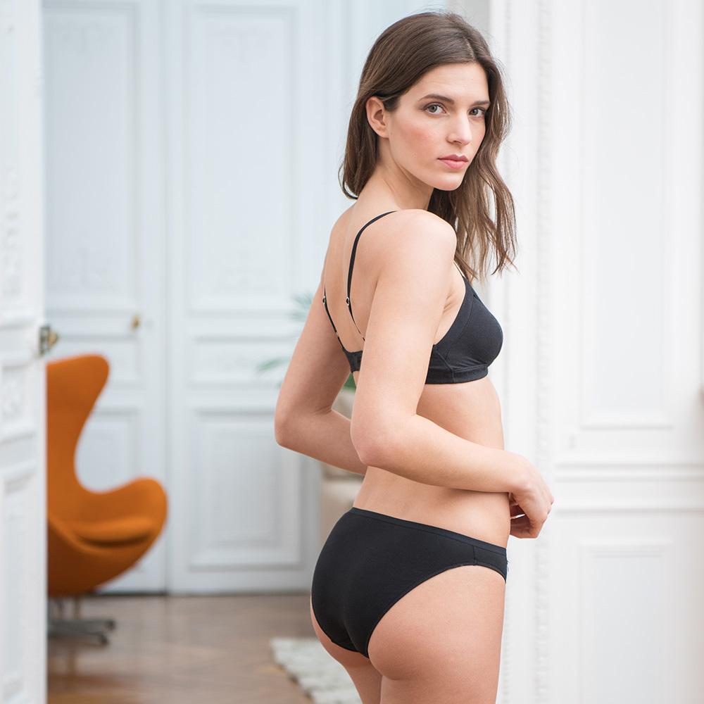 La Lucette - Culotte classique noire