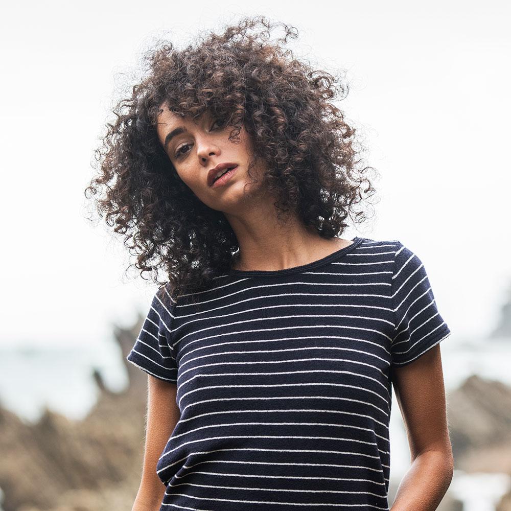 La Martine Rayé Marine - Tshirt Raye Marin