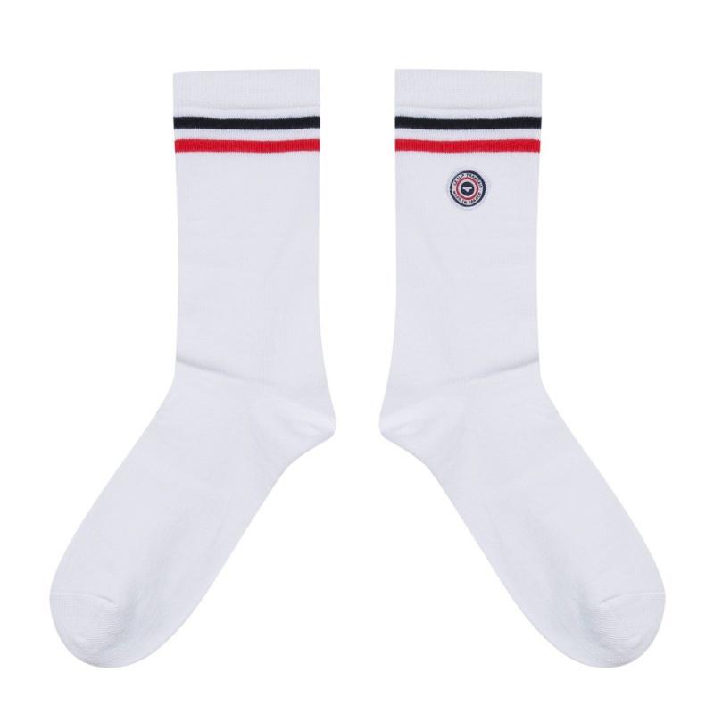 nouvelles chaussettes blanc liser pour homme le slip fran ais. Black Bedroom Furniture Sets. Home Design Ideas