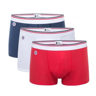 Le Drapeau - Pack de 3 Boxers 100% coton