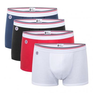 L'International - Pack de 4 Boxers 100% coton