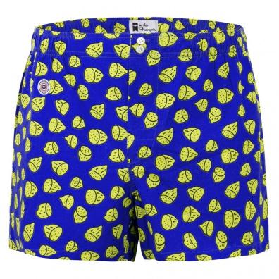 Le Citron - Caleçon Bleu à motif citron