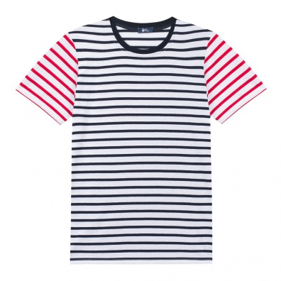 Le Bob - T Shirt Marinière - Rayures bleues rouges