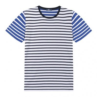 Le Mitch - T Shirt Marinière - Rayures bleues