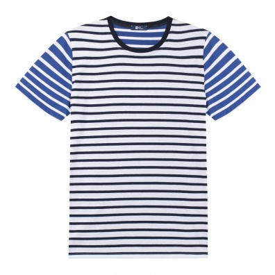 Le Mitch - TShirt Marinière - Rayures bleues