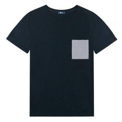 Le Nicolas - T Shirt bleu avec poche marinère