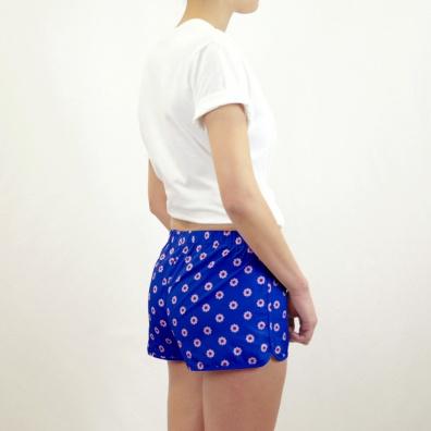 Le Pâquerette - Shorty Bleu roi à motif