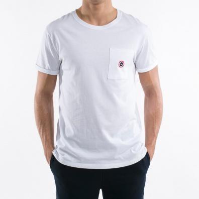 Le Matthew - T shirt Blanc - Poche avec point bleu