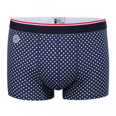 Le Pointilleux - Blue Boxer Briefs with dots