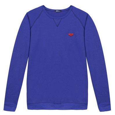 Le Raglan bleu roi - Sweat bleu roi à écusson