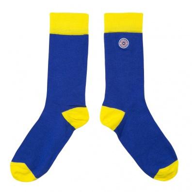 Les Lucas estivales - Chaussettes jaunes et bleues