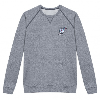Le Chamois - Sweat bleu chiné