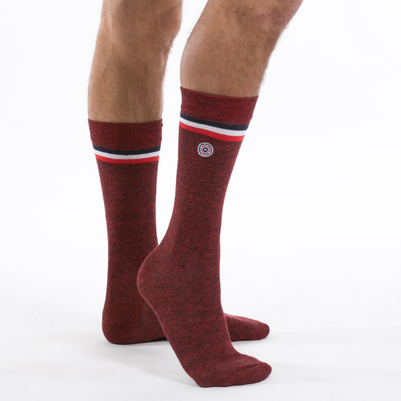 chaussettes homme rouge avoriaz chaussettes rouge made in france