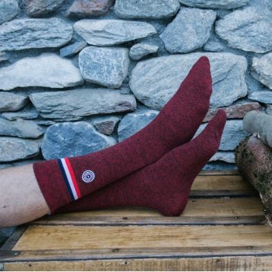 Les Lucas Avoriaz - Chaussette rouge chiné