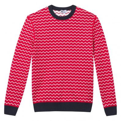 Le Mono - Pull réversible rouge / blanc