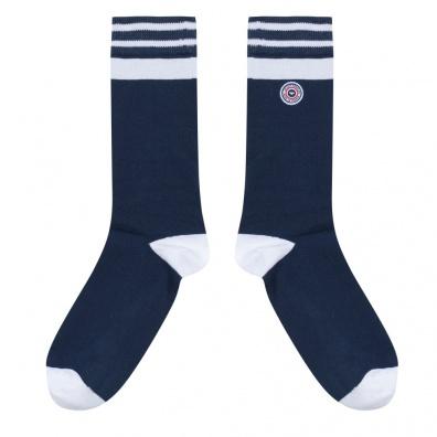 Tignes - Chaussettes bleues et blanches