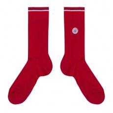 Les Nessy - chaussettes fil d'écosse rouge homme