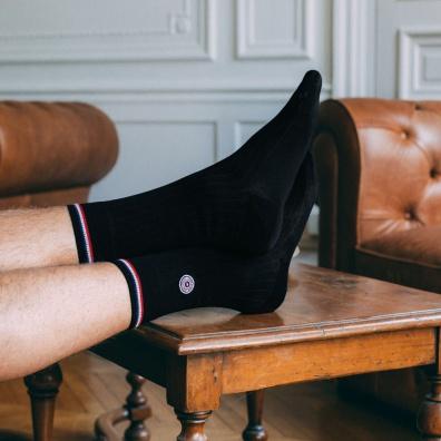 Fil d'Ecosse - chaussettes noires