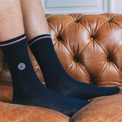 Fil d'Ecosse - chaussettes bleues