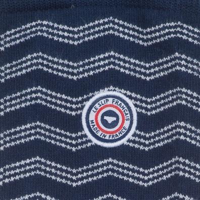 La Plagne - Chaussettes bleues chevrons