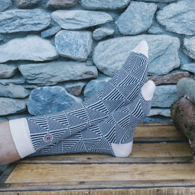 Les 2 alpes - chaussettes blanches