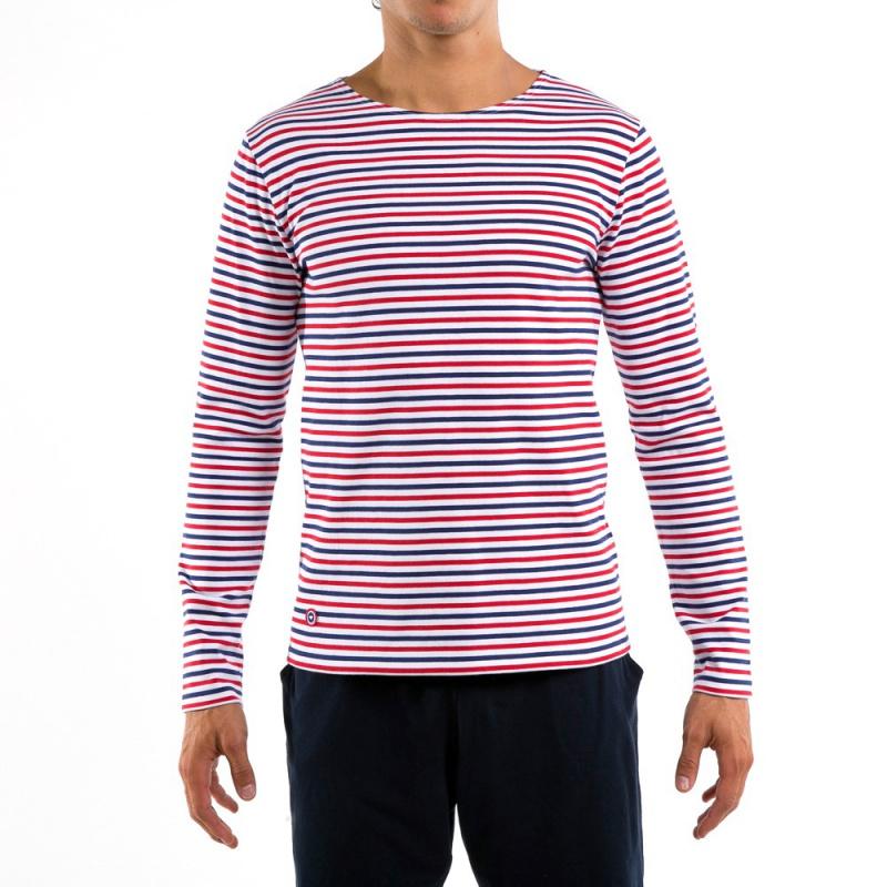le malo bbr t shirt marini re bleu blanc rouge homme. Black Bedroom Furniture Sets. Home Design Ideas