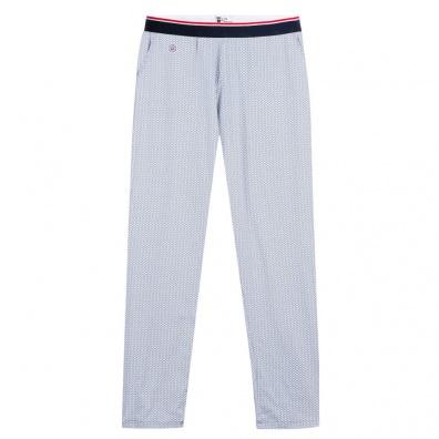 Le Toudou Corail bleu - Bas de pyjama imprimé bleu et blanc