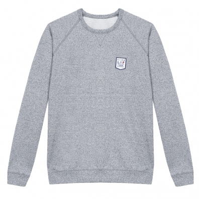 L'ourson - Sweat gris chiné