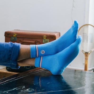 Les Lucas Aqua - Chaussettes bleues turquoise