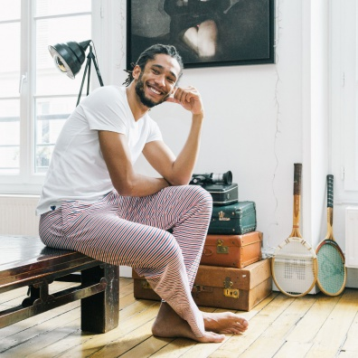 Le Toudou BBR - Bas de pyjama rayé