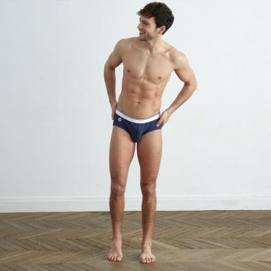 Le Slip d'Antan - Slip 100% coton bleu