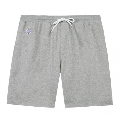 Le Henri gris - Short molleton gris chiné