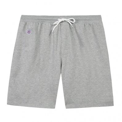 Le Henri - Short molleton gris chiné