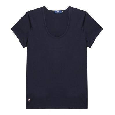 La Brigitte - T-shirt bleu à col rond