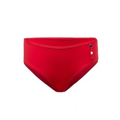 La Tribord - Bas de maillot rouge à boutons