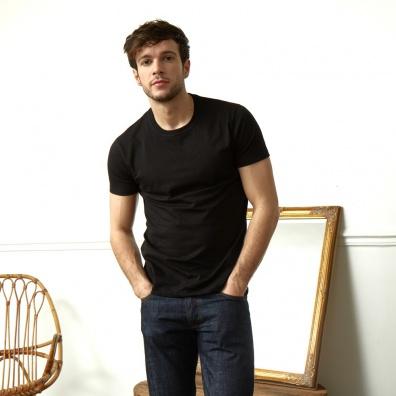 Le Jean noir - T shirt Noir Col rond