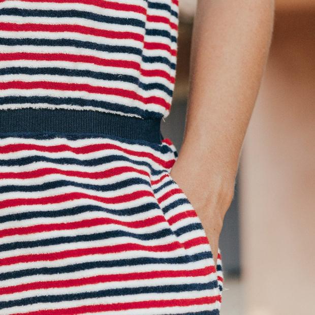 La Françoise - Combinaison éponge bleu blanc rouge