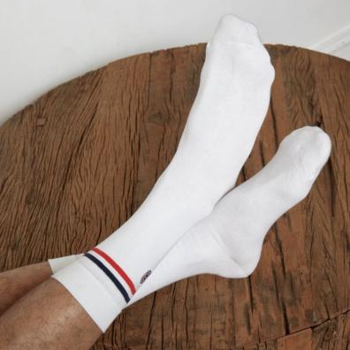 Les Lucas Duo - Duo de chaussettes bleues et blanches
