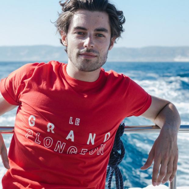 Le Jean F Grand Plongeon - T-shirt rouge