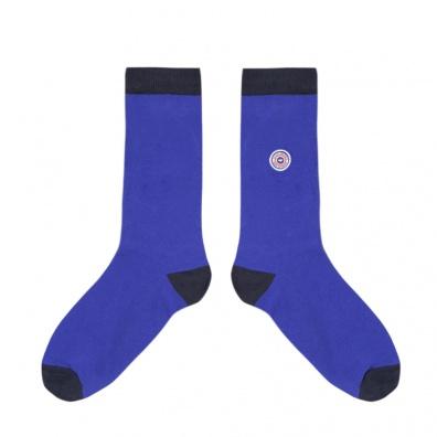 Les Lucas - Chaussettes bleu cobalt