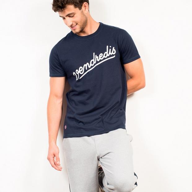 Le Jean F Vendredis marine - T-shirt bleu marine